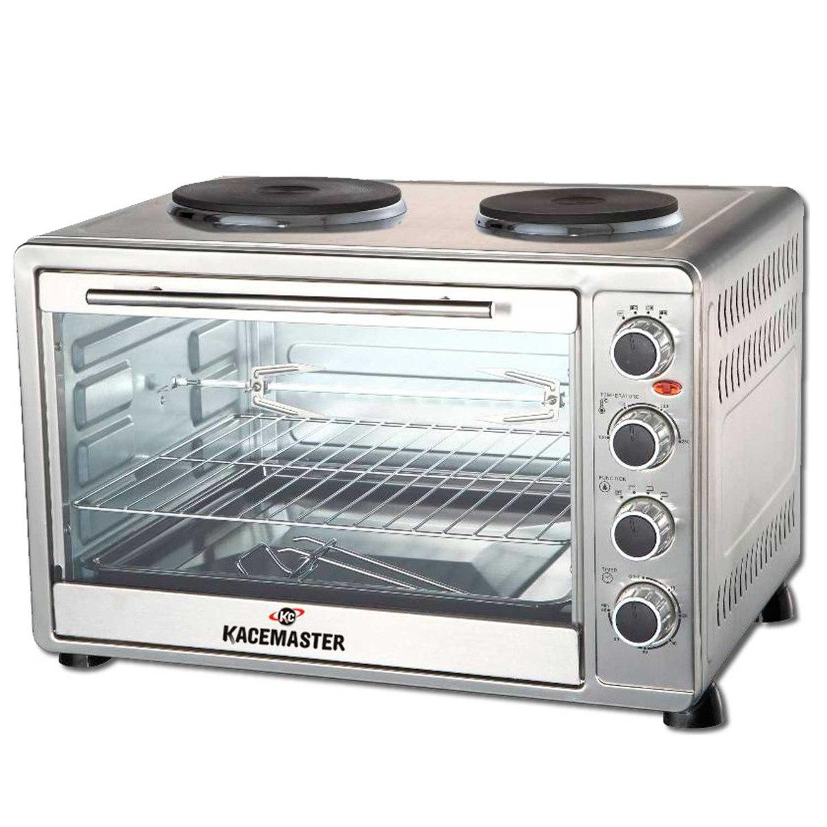 Horno electrico kacemaster 60 litros con anafe doble for Cocinas con horno electrico